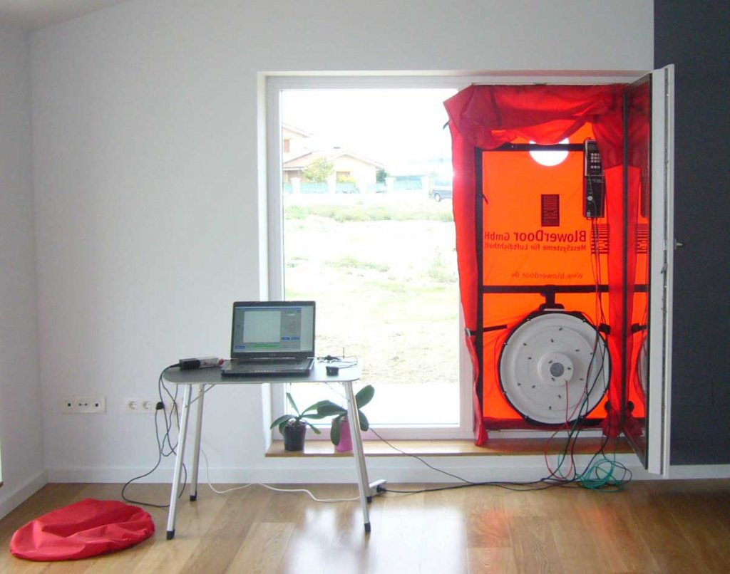 Asesoría: Blower Door Test